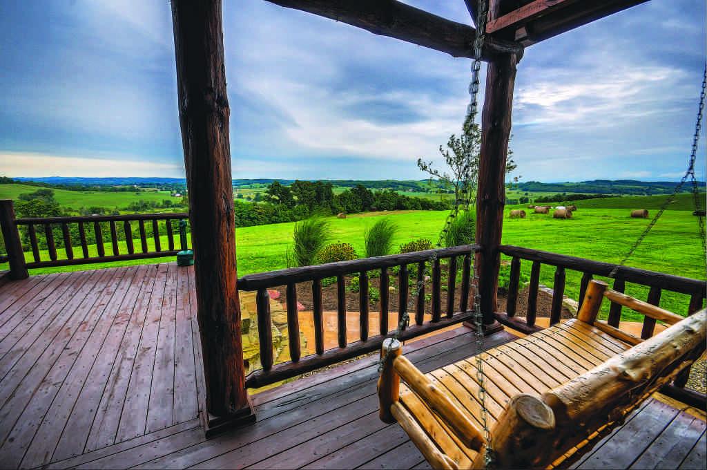 log home decks and porches