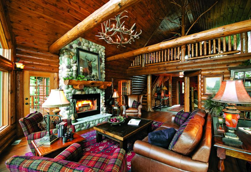 Half-Log Home