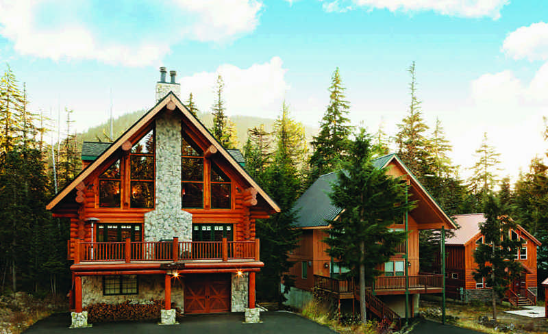 log home renovation of ski lodge