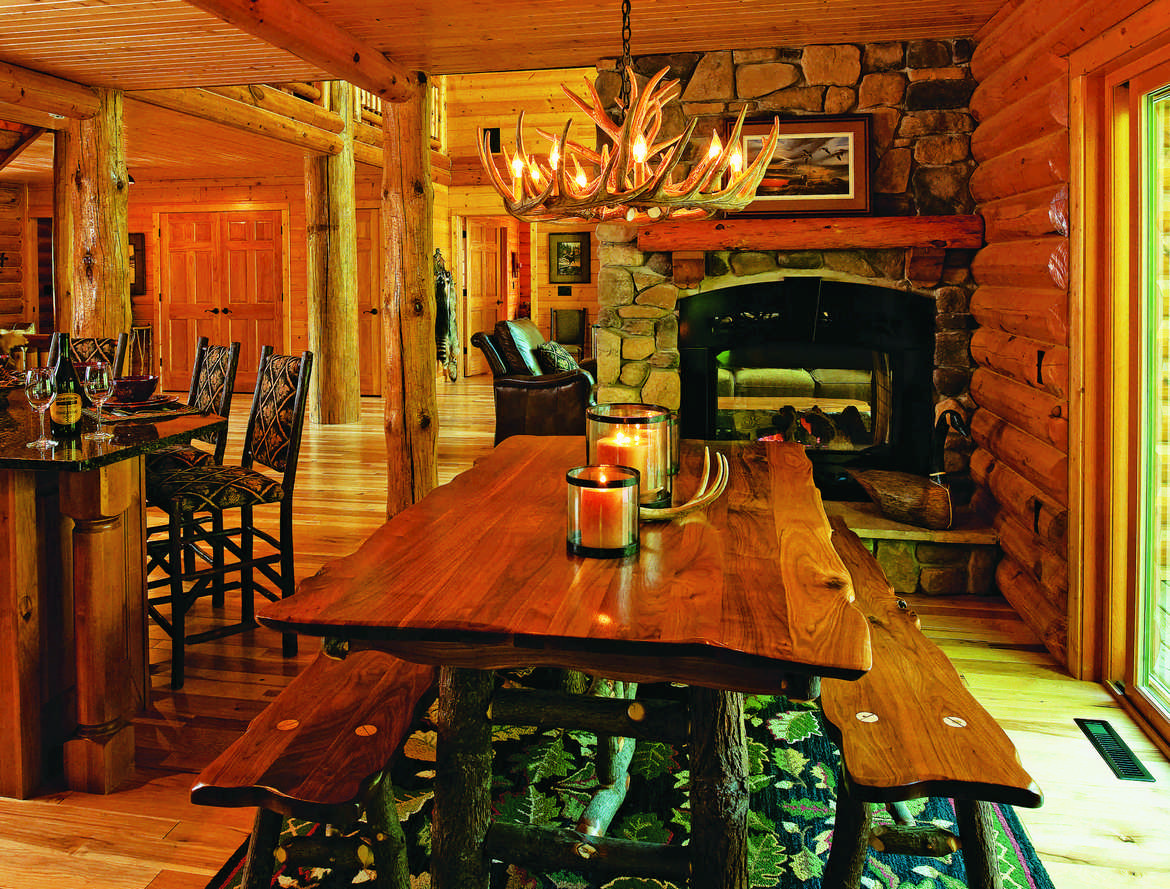 Designing a beautiful log home dining space dining room interior dzzzfo