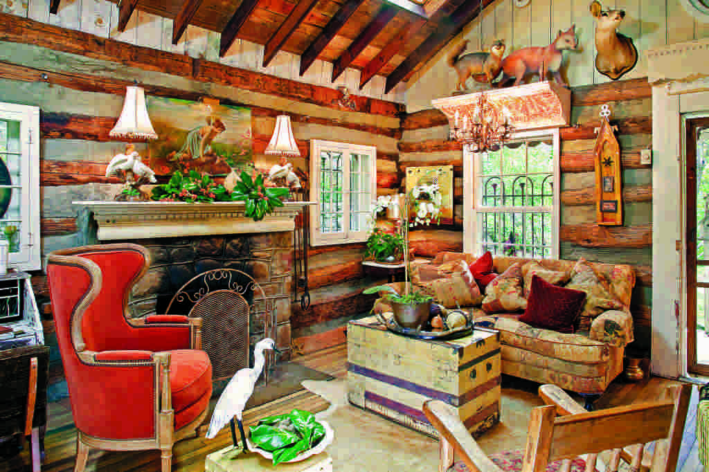 eclectic log home furnishings