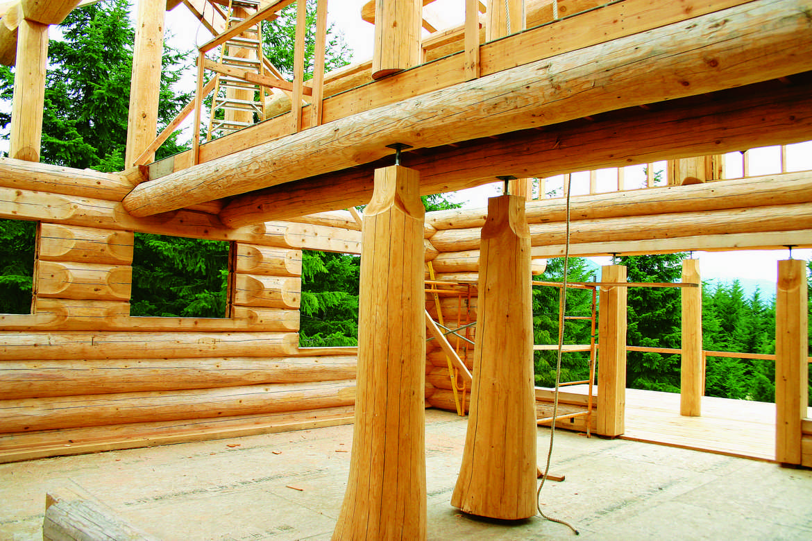 The truth about wood shrinkage in log homes for Www loghome com