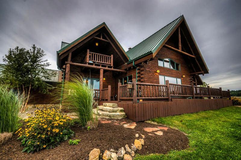 restored log home in Ohio