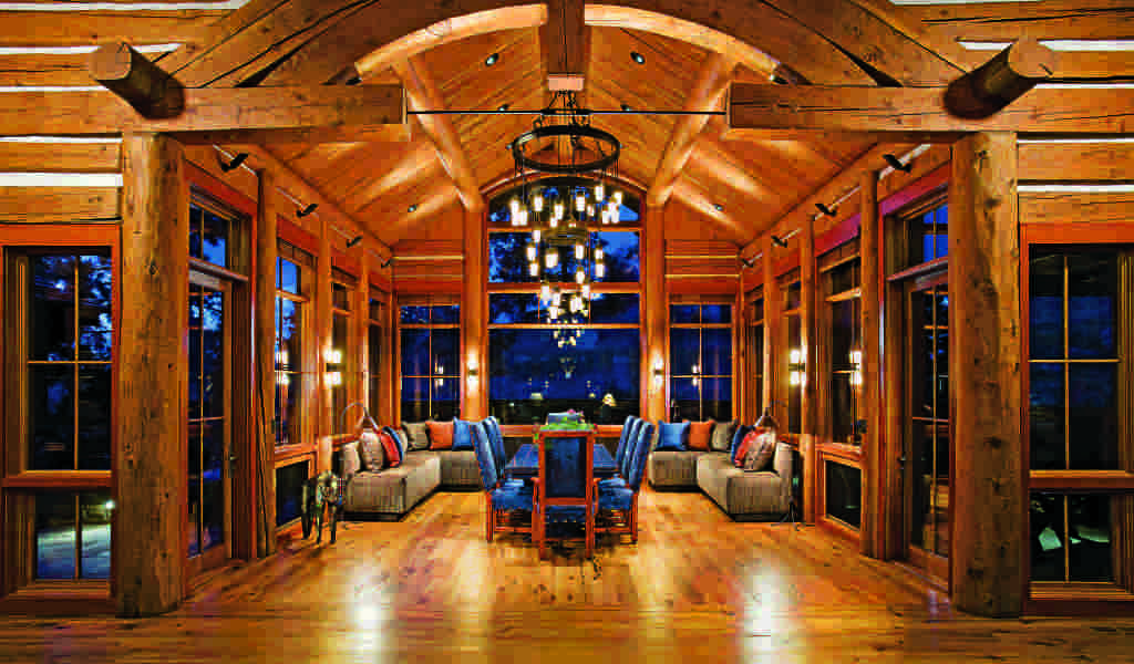 contemporary log home furnishings