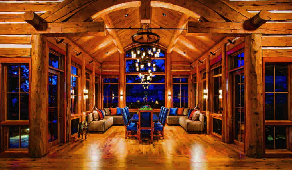5 delightful log home dining rooms