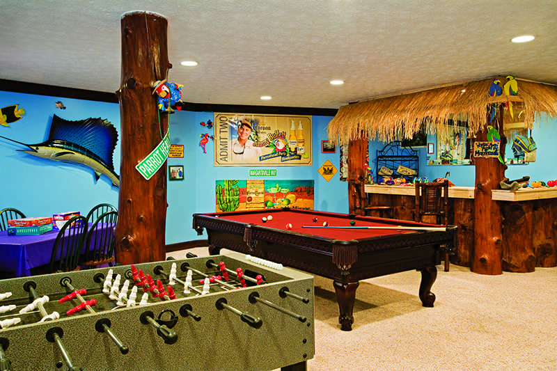 Log home game room decor for All decoration games