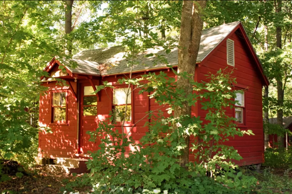 Montville Maine tiny red house cabin