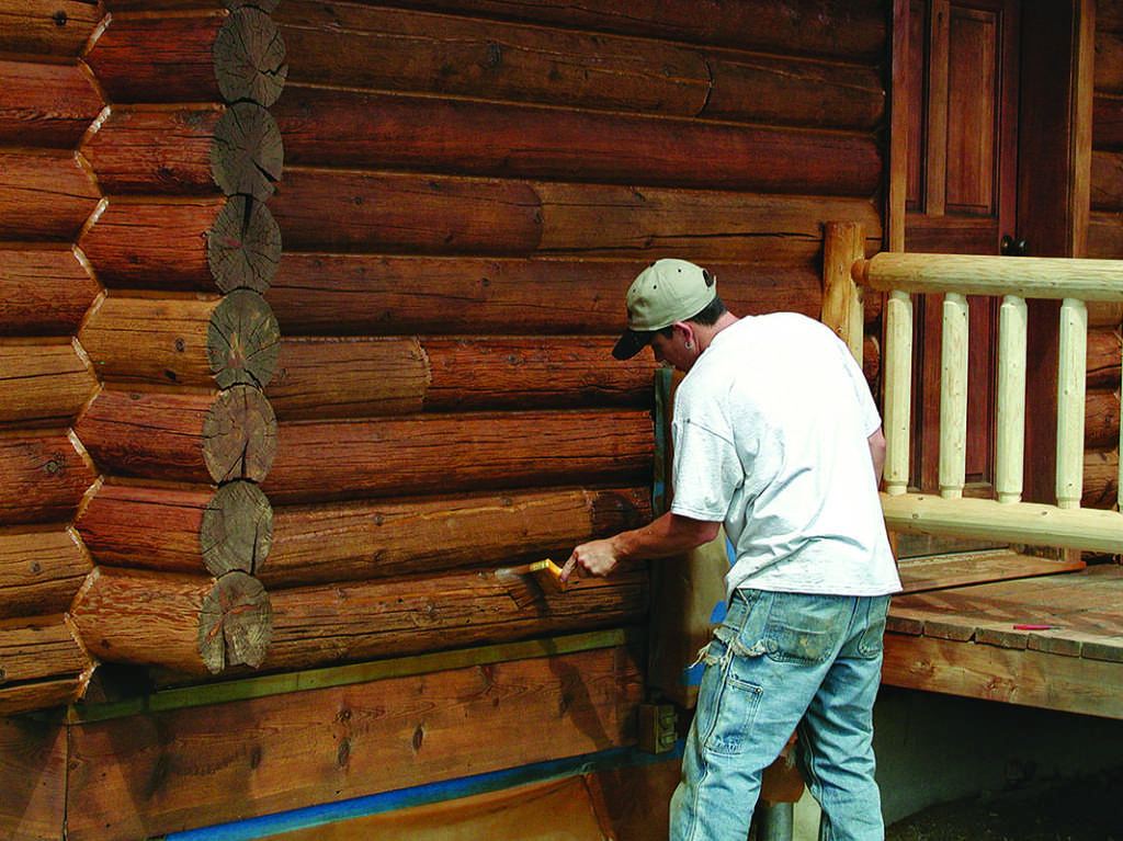 protect your log home's wood