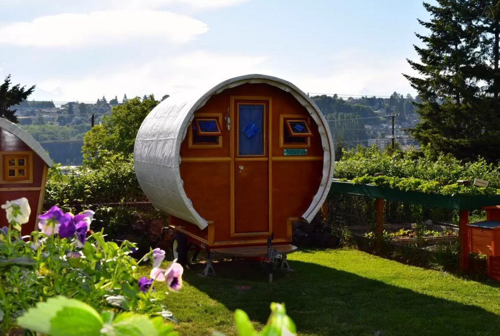 cute tiny house blueprints. gypsy wagon tiny house Seattle Washington 10 Tiny Log Houses You Can Rent