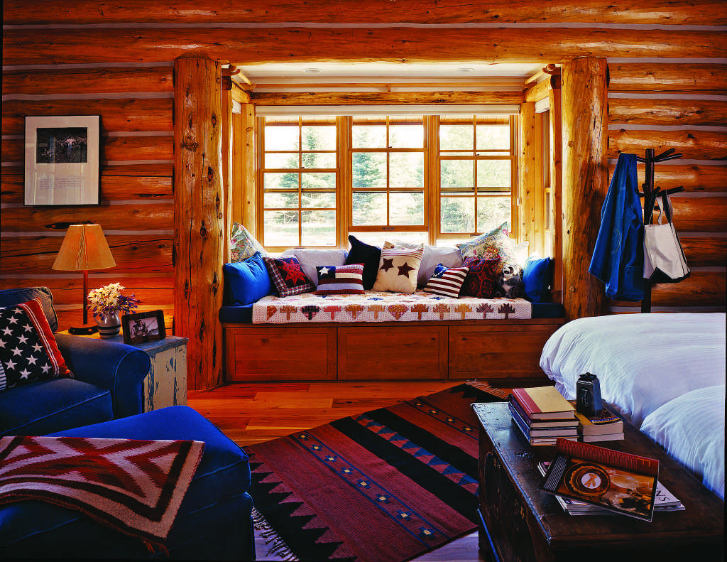 Log Home Window Seat