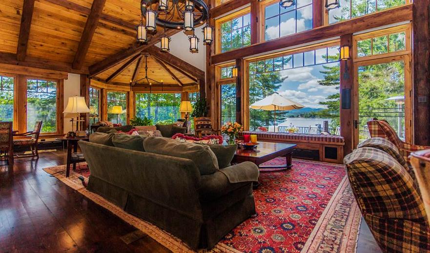 Lake Placid Luxury Log Home