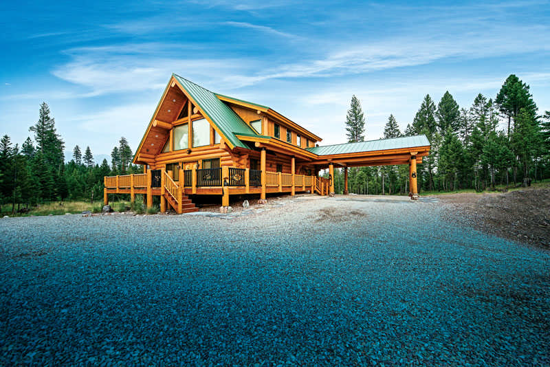 The great northern escape in a montana log home for The great escape house