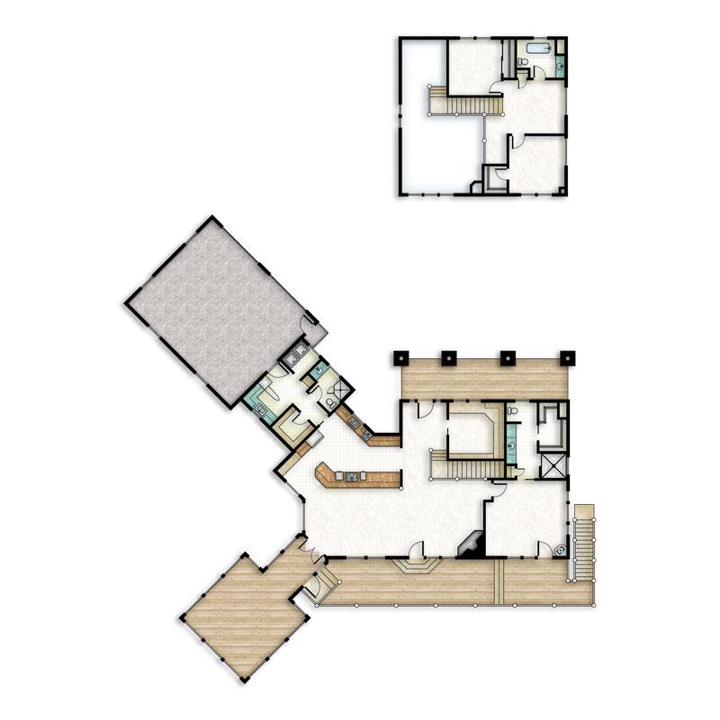 log home floorplan