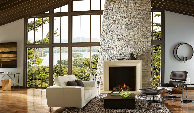 decorating your log home fireplace