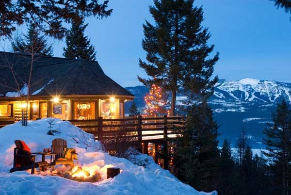 mountain view log home