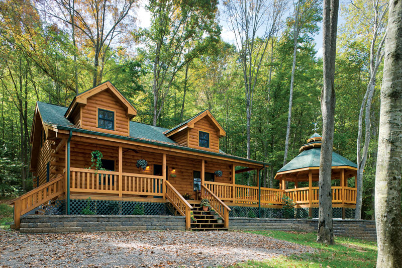 Log home tour a dream log cabin built in under six Being your own contractor building home
