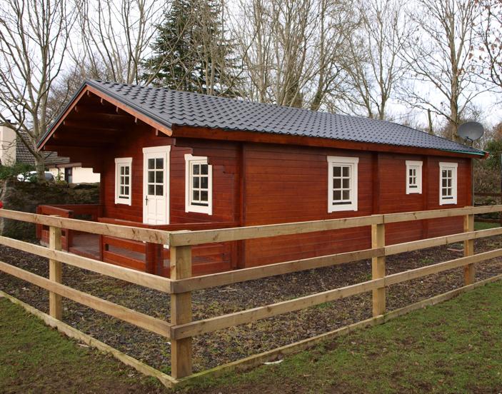 small irish log home
