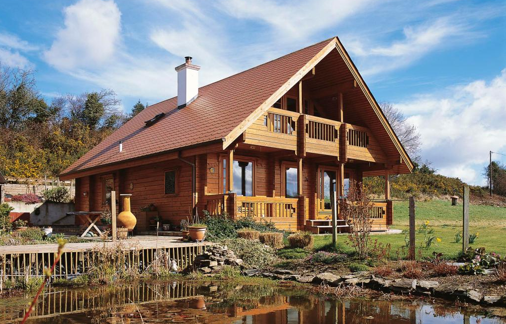 Ireland log home