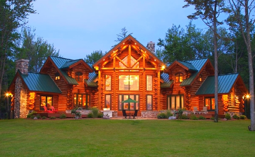 Ireland luxury log home