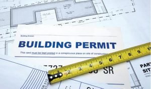 Obtaining a building permit is vital.