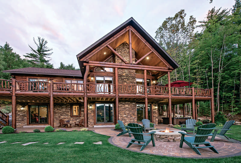 a vacation log home in new hampshire the log home