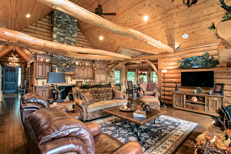 A vacation log home in new hampshire the log home for Www loghome com