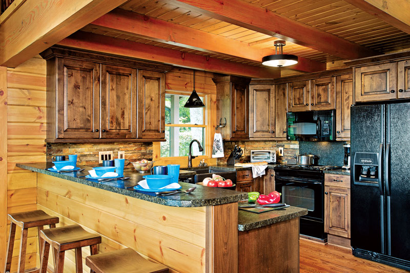 Storage tips for smaller log homes the log home neighborhood for Www loghome com