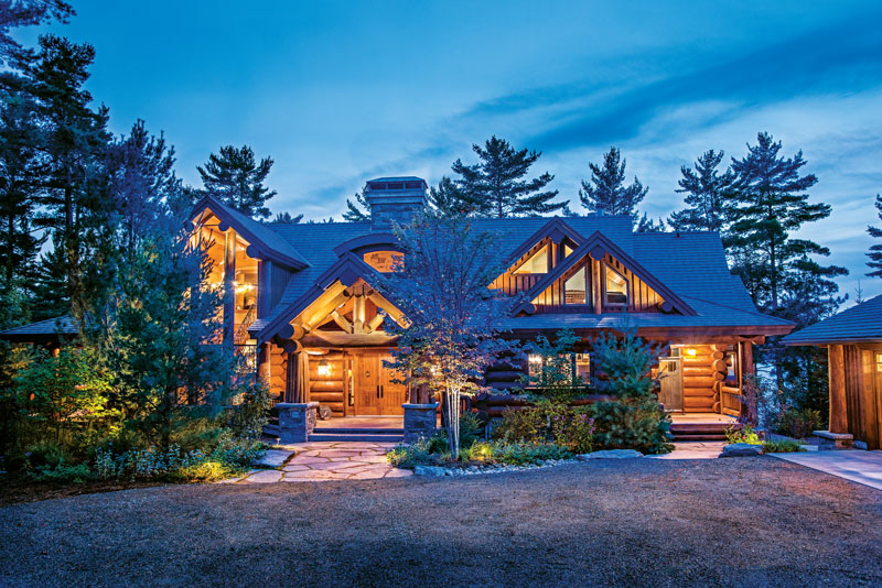 A family log home is a canadian retreat the log home for Www loghome com