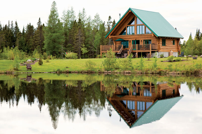 pond at your log home