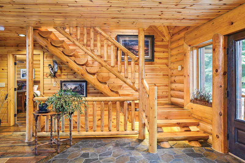A Hybrid Half Log Home In Wisconsin