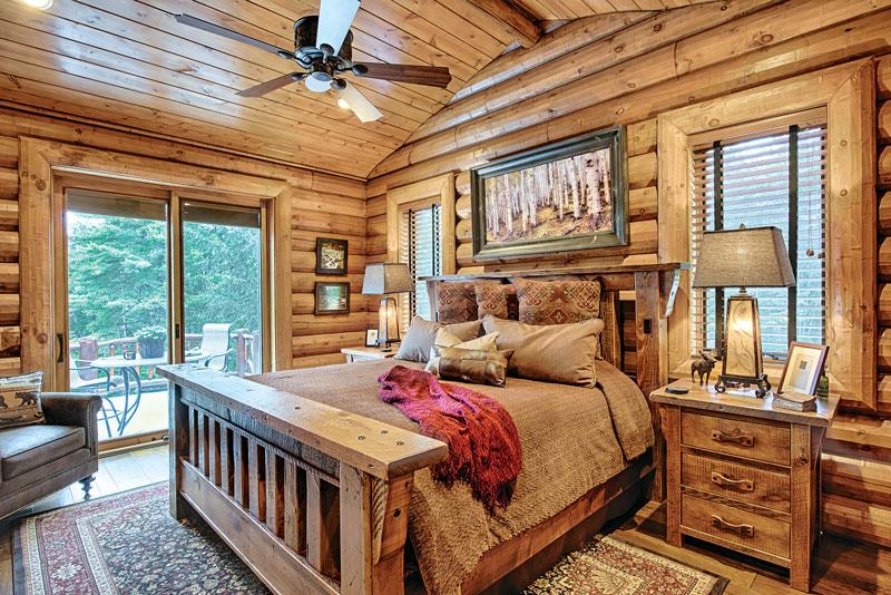 11 Log Home Bedroom Designs