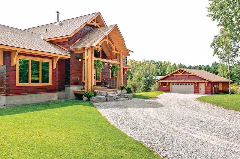 Log home tour energy efficiency modern design the for Www loghome com