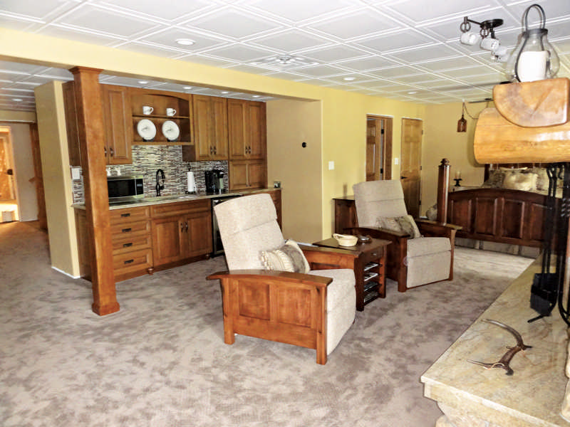 log home basement furniture