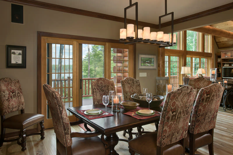 Craftsmanship Abounds In A Wisconsin Half Log Home
