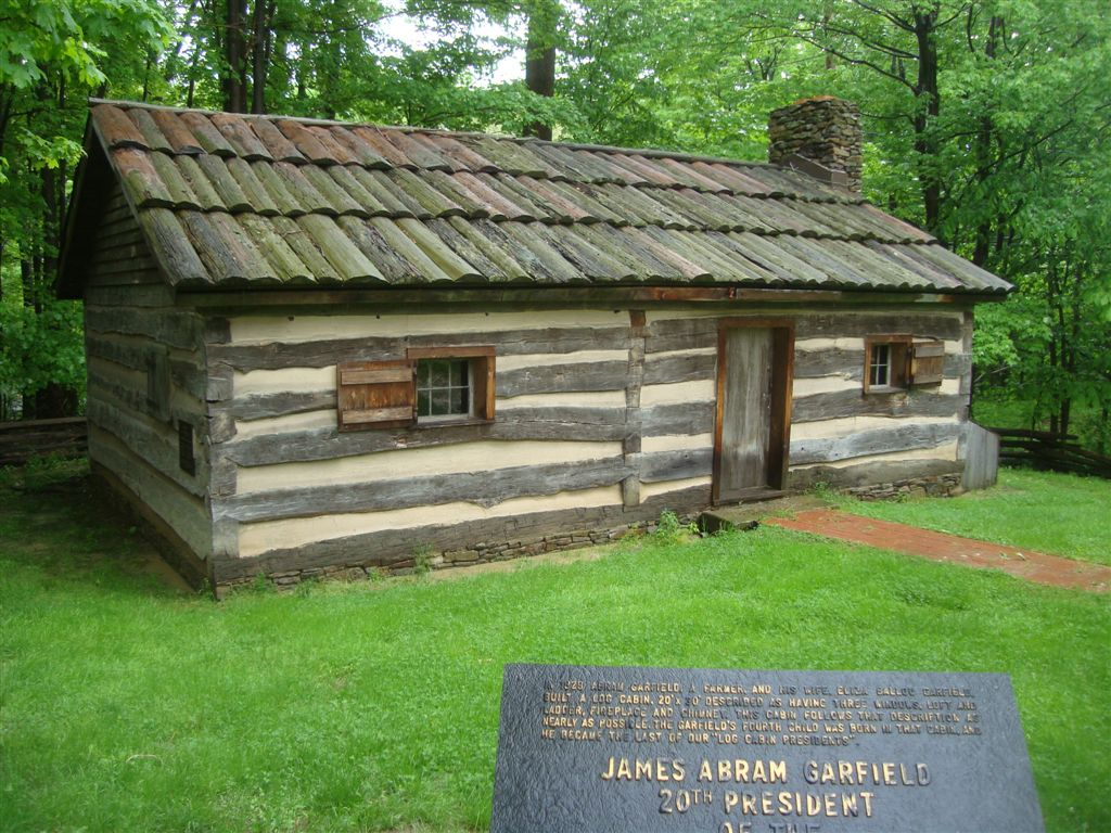 Presidents born in log cabins, James Garfield