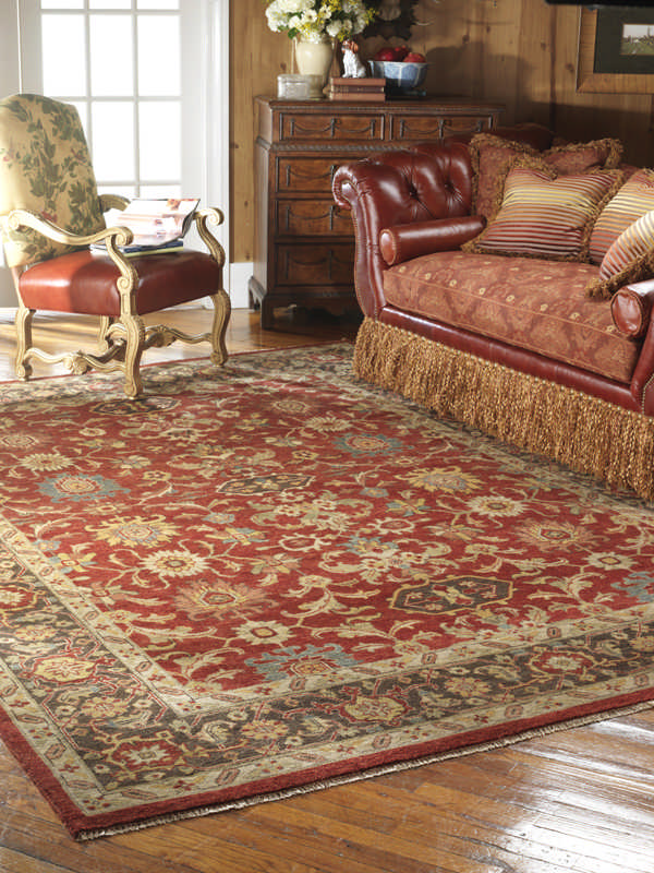 Delineate space in your open floor plan with rugs for 12x15 living room