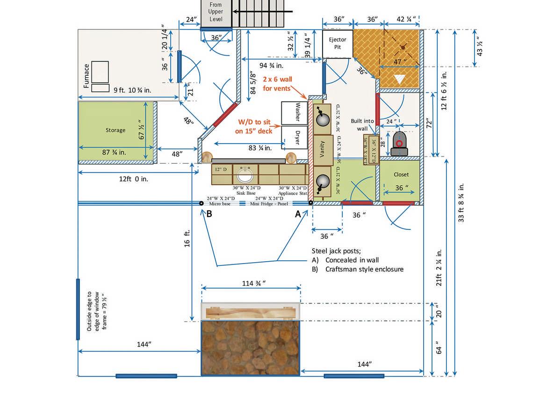 Log home floor plans and blueprints