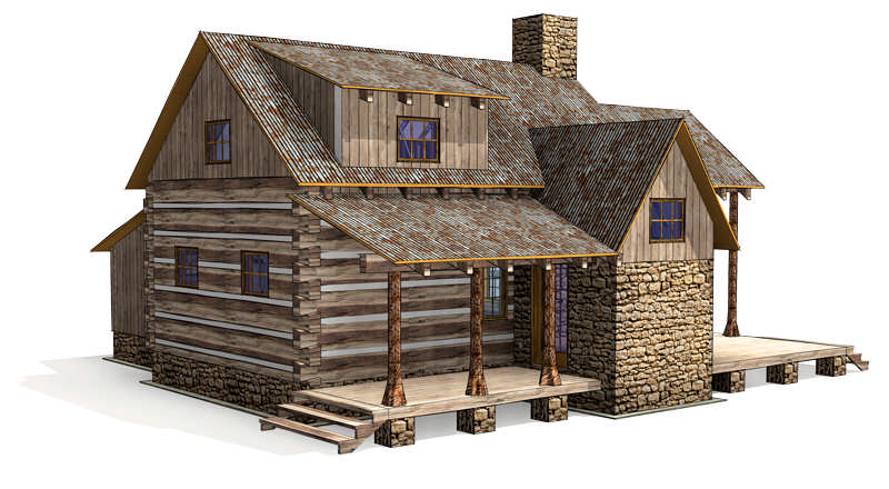 Floor Plans A Cozy Cabin For A Historic Ranch