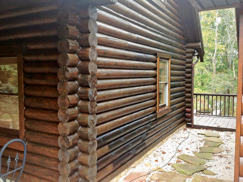 Logs can be re-faced or replaced, restoring both the look and structural soundness of a log home.
