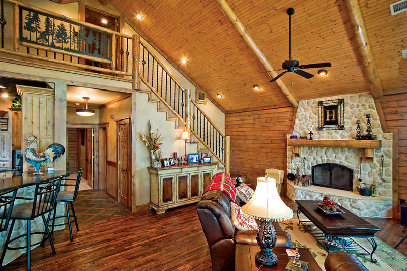 A custom crafted log home lives large for 20x40 cabin