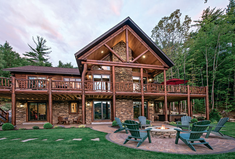 10 Outdoor Spaces To Cure Log Cabin Fever