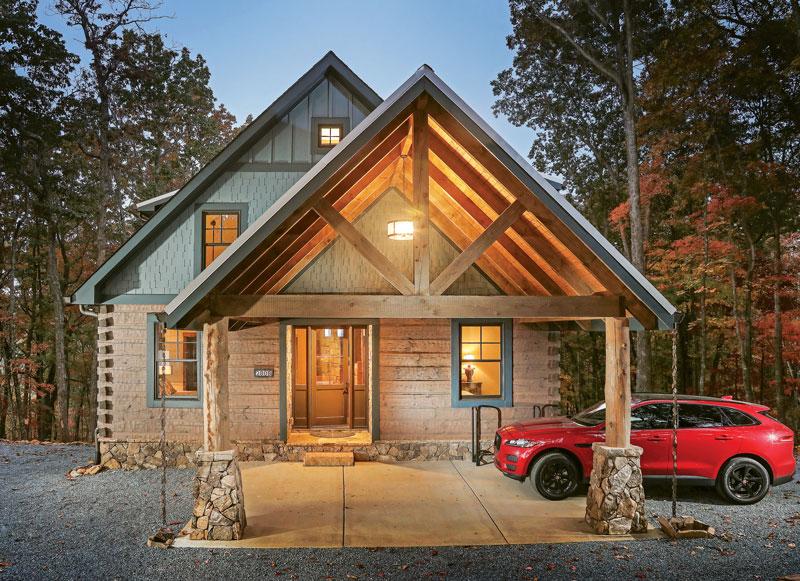 A Modern Georgia Log Cabin