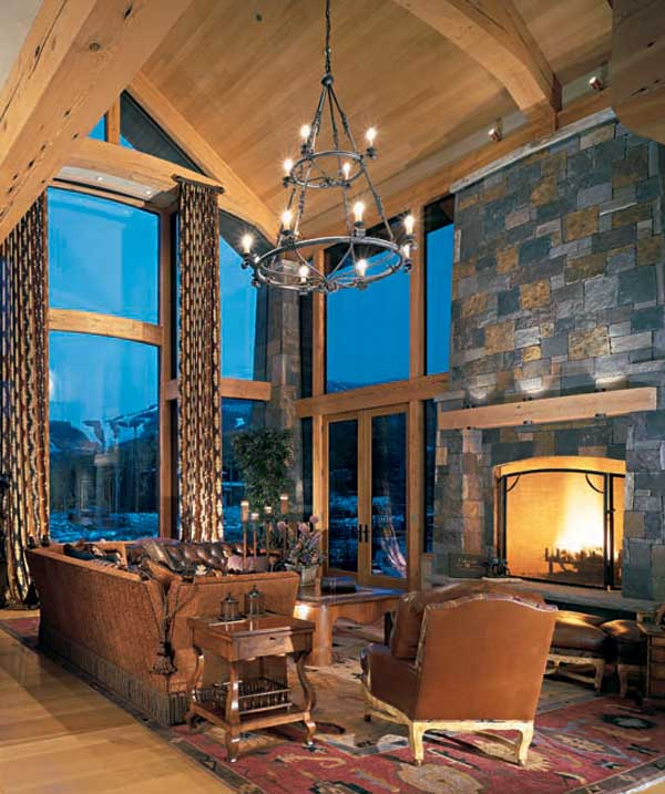 Rustic lighting for your timber frame home for Rustic timber frame homes