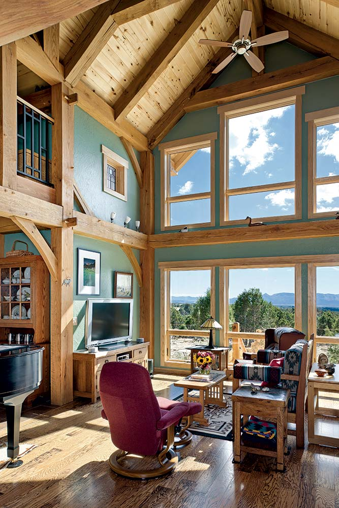 Colorado Timber Home Great Room