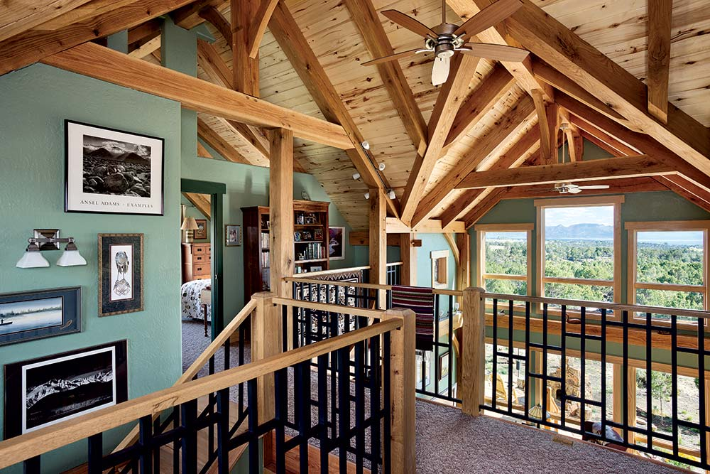 Colorado Timber Home Loft