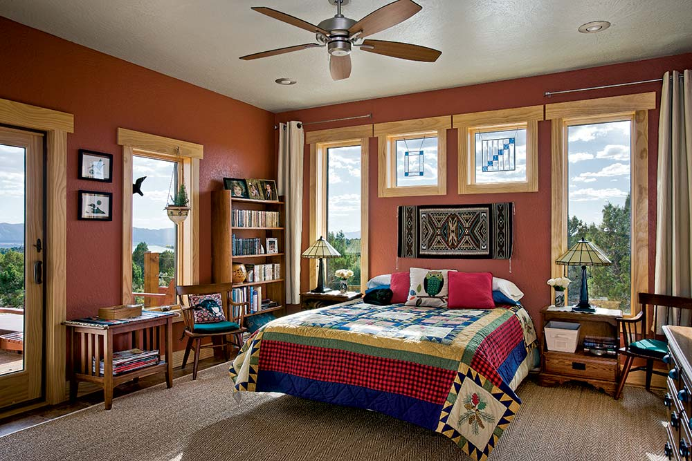 Colorado Timber Home Bedroom