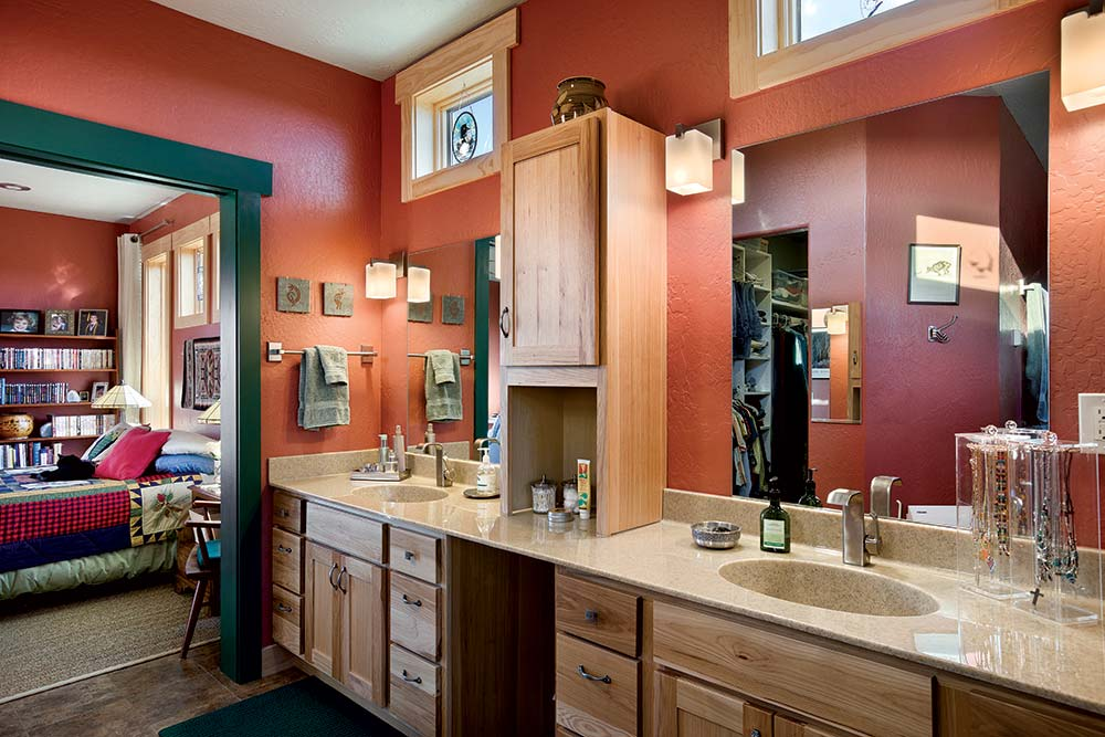 Colorado Timber Home Bathroom