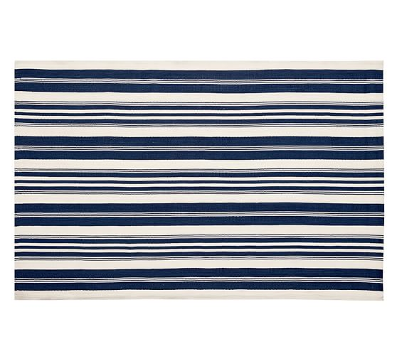 Oxford Stripe Indoor/Outdoor Rug from Pottery Barn. From $49.