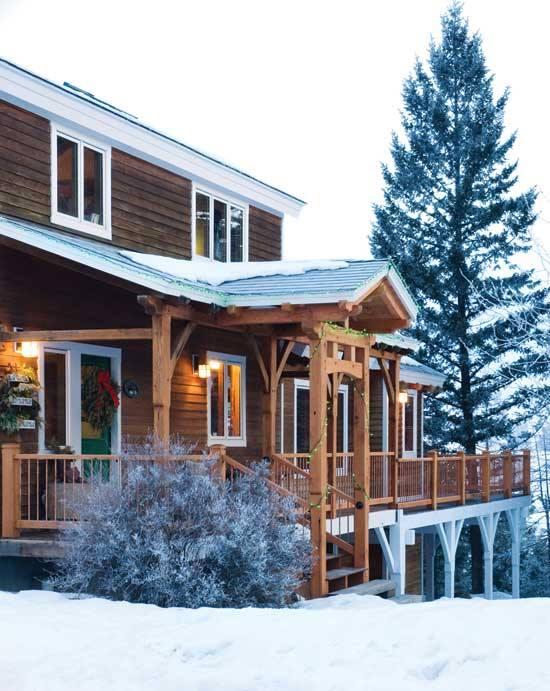 Home by Centennial Timber Frames.