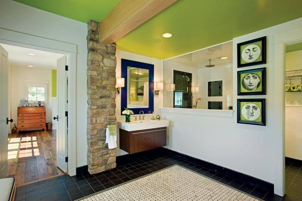 Don't be afraid to go bold like this touch of lime green.
